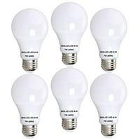 Bioluz LED A19 7w (40 Watt Equivalent) Premium Soft White (2700K) Light Bulb 6-Pack (BA19-7WW6)