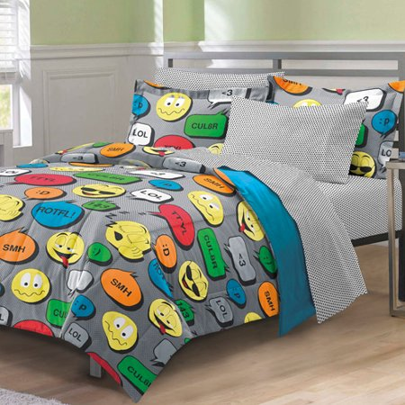 My Room Emoticon Comforter Set With Sheets Walmart Com