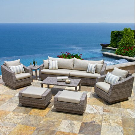Rst Brands Cannes 8pc Sofa And Club Chair Set Outdoor