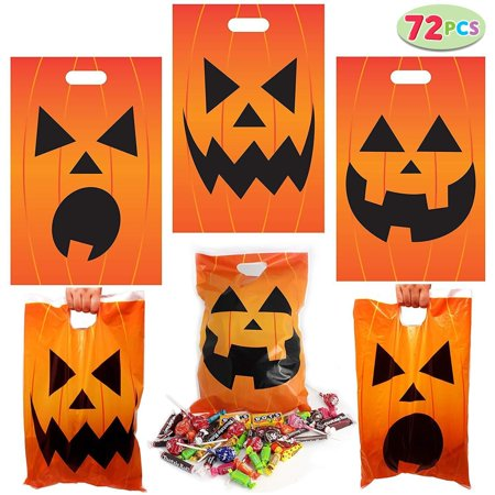 Halloween Trick Or Treating Bags (Halloween Jack O Lantern Trick Or Treat Bags  - Pack of)