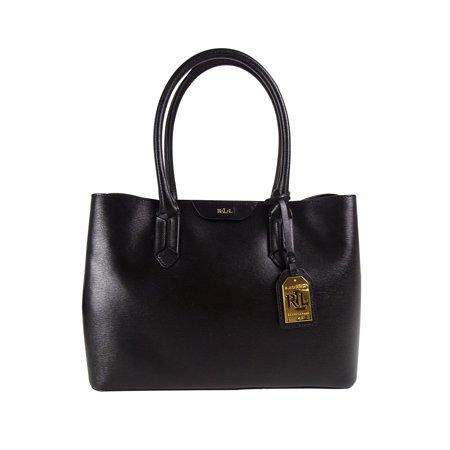 Ralph Lauren - Lauren Ralph Lauren Black Saffiano Leather Handbag Tate City  Shopper Satchel - Walmart.com 0d75a3a812