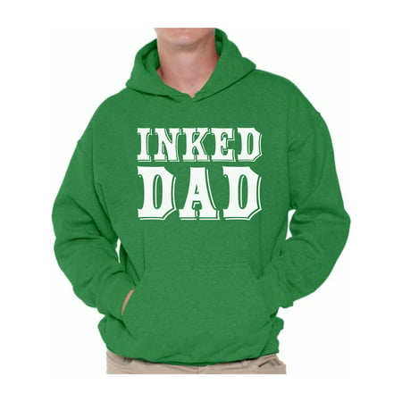 Awkward Styles Inked Dad Hooded Sweatshirt Tattooed Dad Hoodie Tattoo Sweater with Sayings Cool Father Gifts for Tattoo Lovers Dad Tattoo Hoodie Sweater Dad Sweatshirt for Men Best Dad