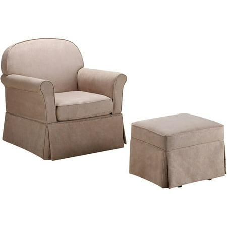 Admirable Baby Relax Evan Swivel Glider And Ottoman Beige Evergreenethics Interior Chair Design Evergreenethicsorg
