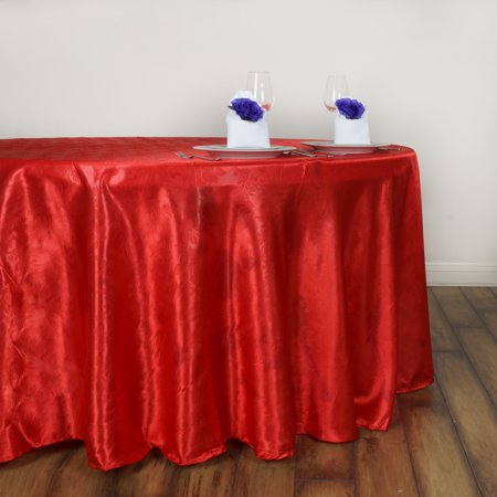 120 Round Tablecloth (Efavormart Adoringly Adorned Satin Lily Round Tablecloth 120