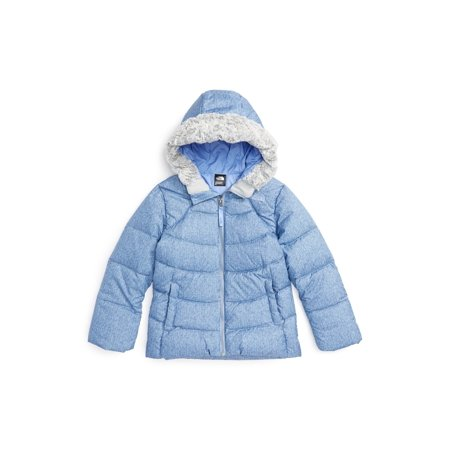 Mist Girl's 4T Hooded Puffer Jacket 4 (North Face Arctic Jacket)