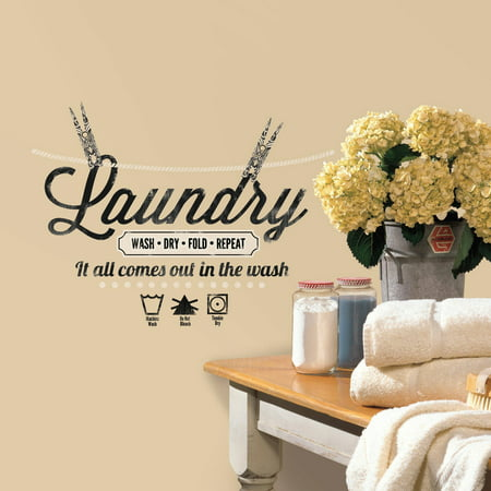 Laundry Quote Peel and Stick Wall -