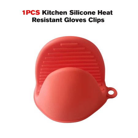 1PCS Kitchen Silicone Heat Resistant Gloves Clips Insulation Waterproof Non Stick Anti-slip Pot Bowel Holder Clip Scalding Injury Cooking Baking Oven Mitts
