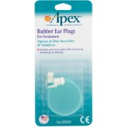 Apex Ear Plugs Rubber for Swimmers 1 Pair (Pack of 3)