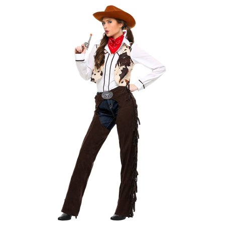 Adult Cowgirl Chaps Costume - Cowgirl Adult Costume