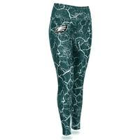 Philadelphia Eagles Zubaz Women's Marble Legging - Midnight Green/Gray