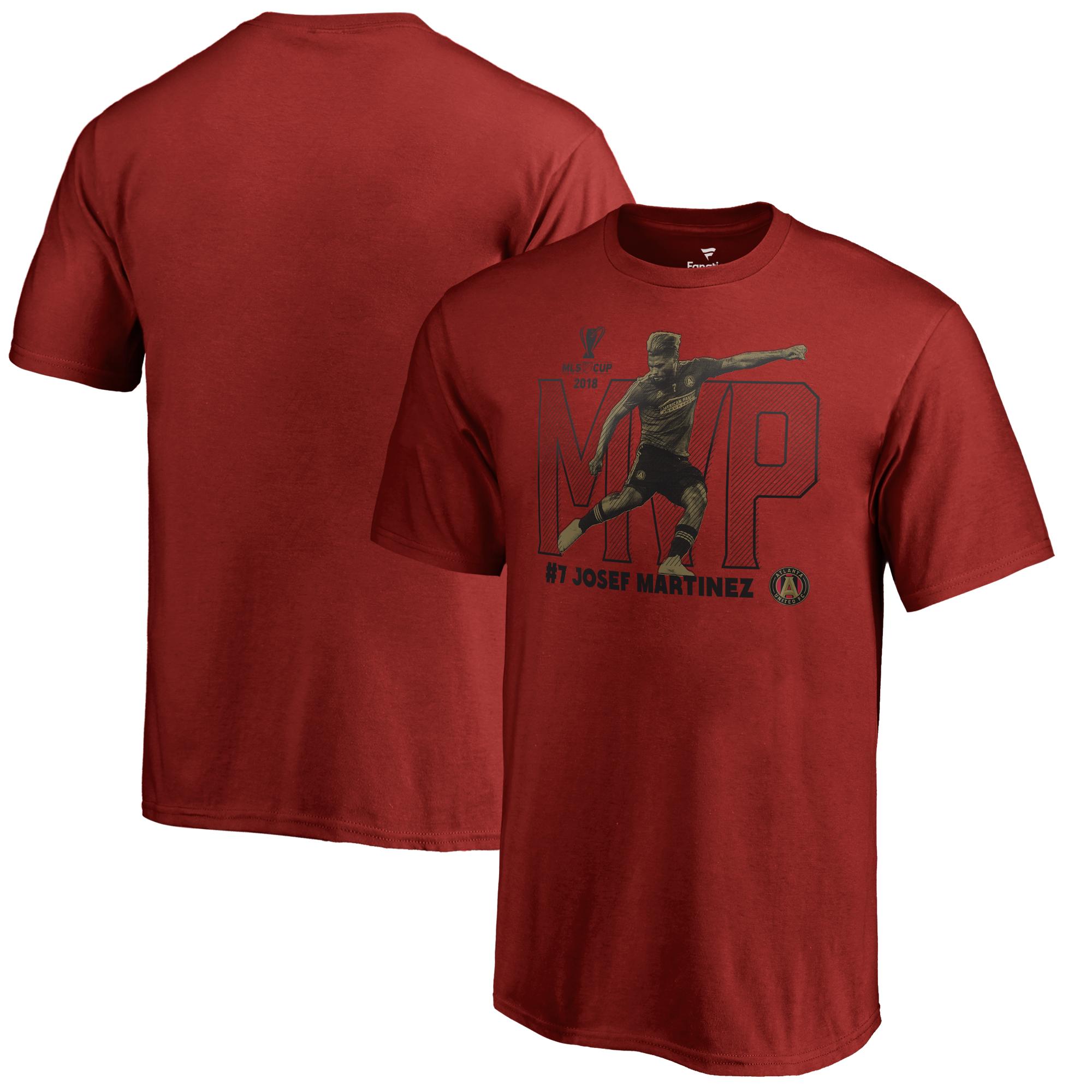 Josef Martinez Atlanta United FC Fanatics Branded Youth 2018 MLS Cup Champions MVP T-Shirt - Cardinal