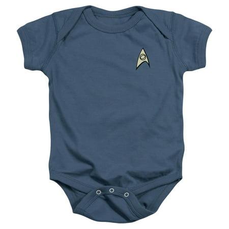 Star Trek Unisex Uniform Infant Snapsuit (Star Trek Uniform Buy)
