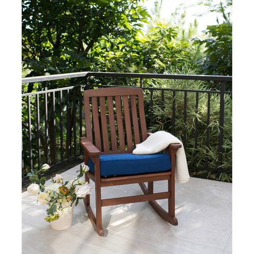 Better Homes & Gardens Delahey Wood Porch Rocking Chair, Brown