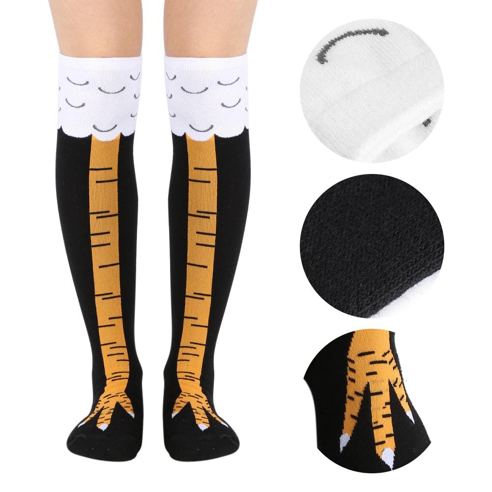 35//50cm Socks 3D Chicken Cartoon Animal Legs Knee Fitness Novelty Women Men US