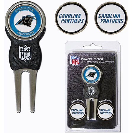 North Carolina Divot Tool - Team Golf NFL Carolina Panthers Divot Tool Pack With 3 Golf Ball Markers