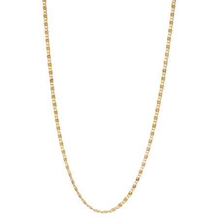 - 1.8mm 25 mills 24kt Gold Plated Venetian Link Chain Necklace, 24 inches