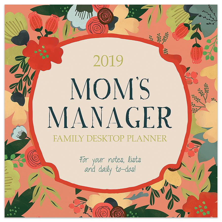 "2019 Mom's Manager 5.5"" x 5.5"" January 2019-December 2019 Daily Desktop Calendar by TF Publishing"
