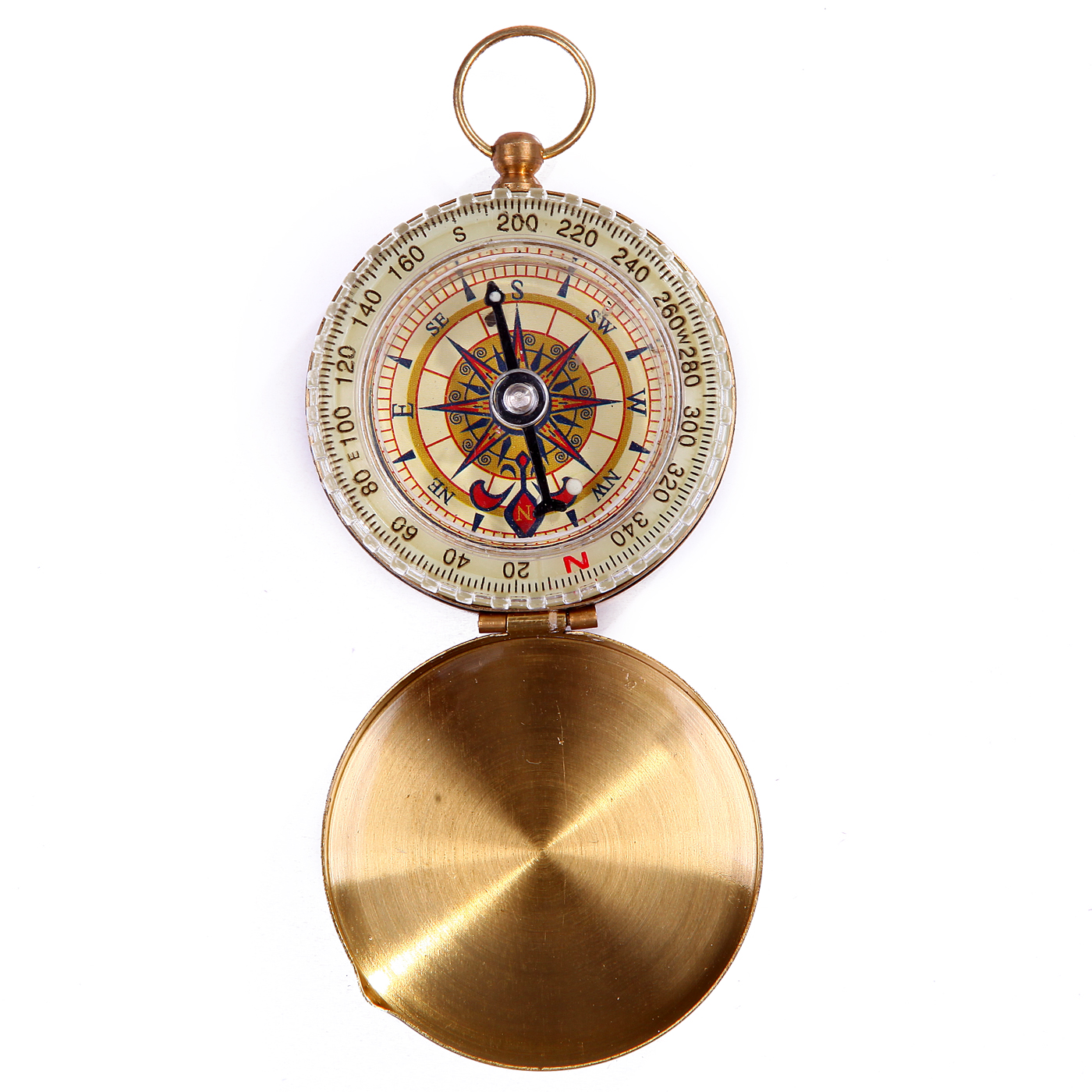 HDE Glow-in-the-Dark Golden Magnetic Pocket Compass for Camping and Hiking