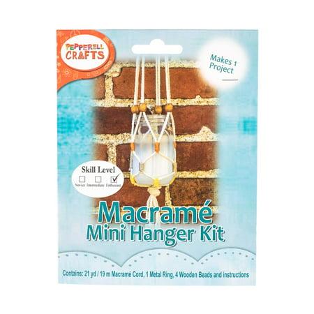 Craft County Macrame Hanging Jar Kit - Make Your Own Hanging Macrame (Jaw Kit)