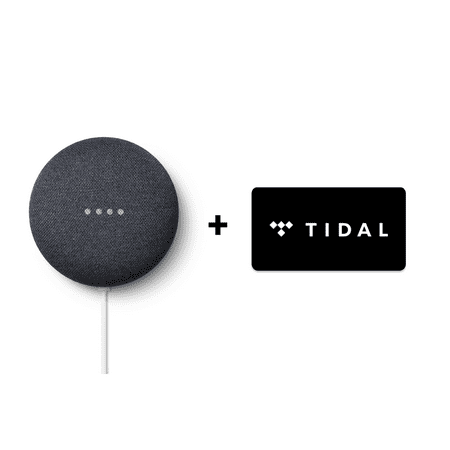 Google Nest Mini (2nd Generation) + TIDAL Premium 4-Month FREE Trial