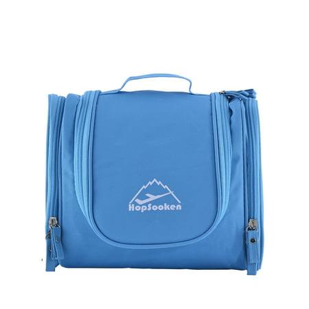 ef6185c94548 Hopsooken Portable Hanging Toiletry Bag Travel Organizer Cosmetic Bag for  Women Makeup Men Shaving Kit(blue) - Walmart.com