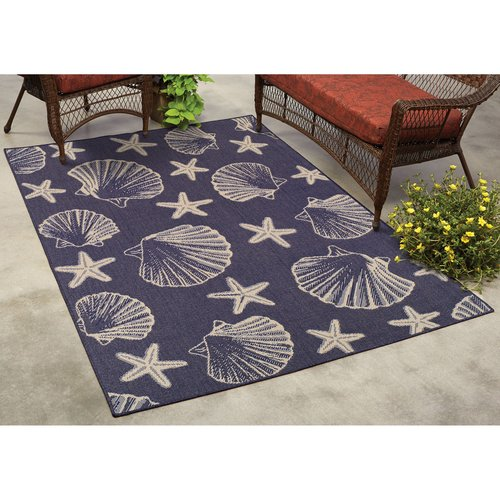 MS Horseshoe Bay Beach Coastal Indoor/Outdoor Rug