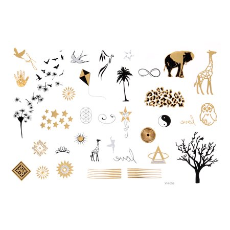 Birds Tree Pattern Water Resistant Body Art Temporary Tattoo Sticker Colorful - Tattoos Birds