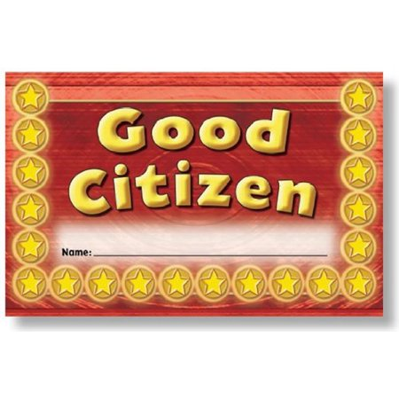 North Star Resources Good Citizen Incentive Punch Cards Pack Of 36  4 X 2 1 2  10 2 X 6 4 Cm  By North Star Teacher Resources