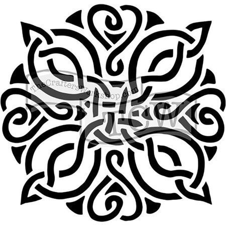Knot Template - 6 x 6 in. Doodling Templates, Celtic Knot