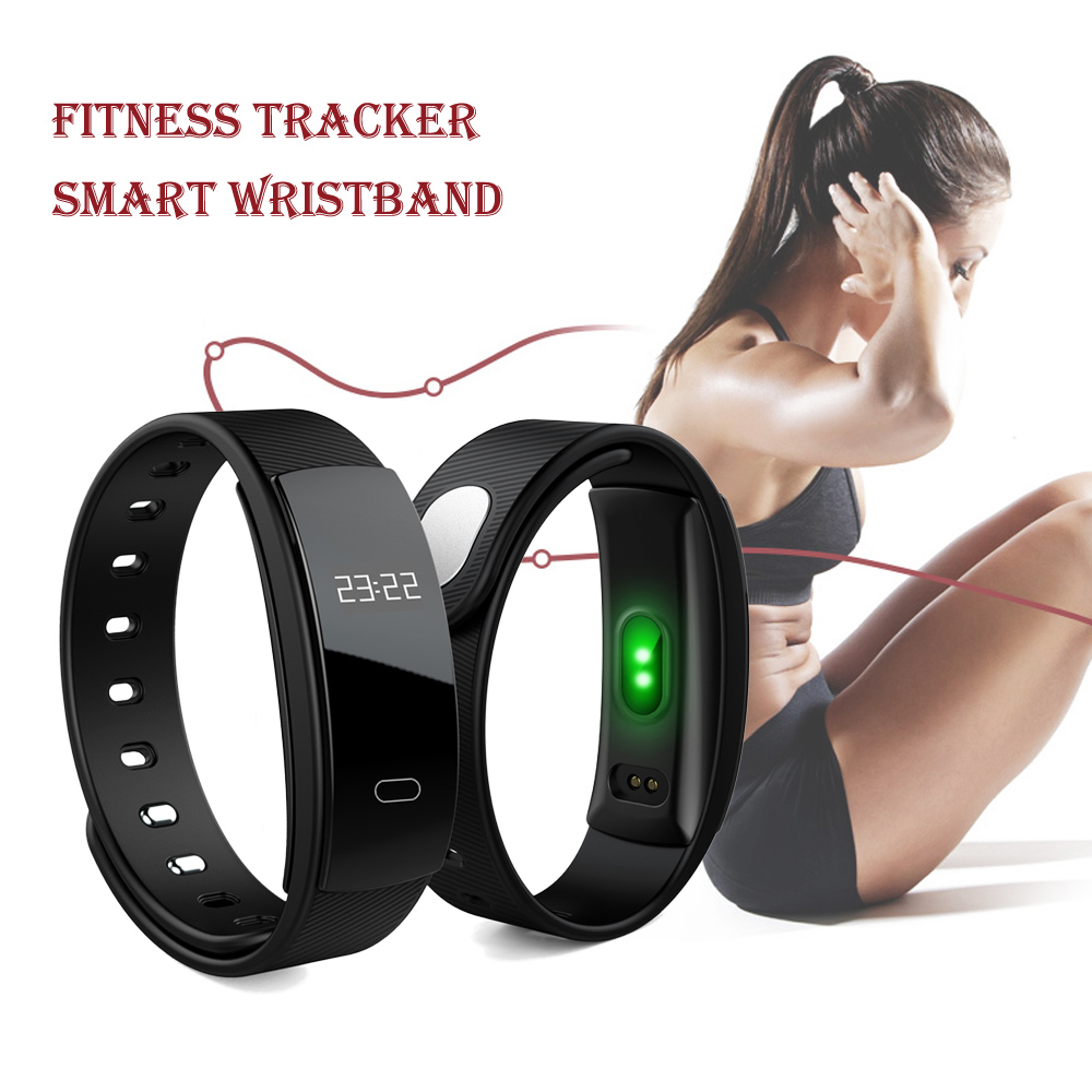 Wireless Smart Activity Trackers Wristband Blood Pressure Heart Rate Monitor Sport Bracelet