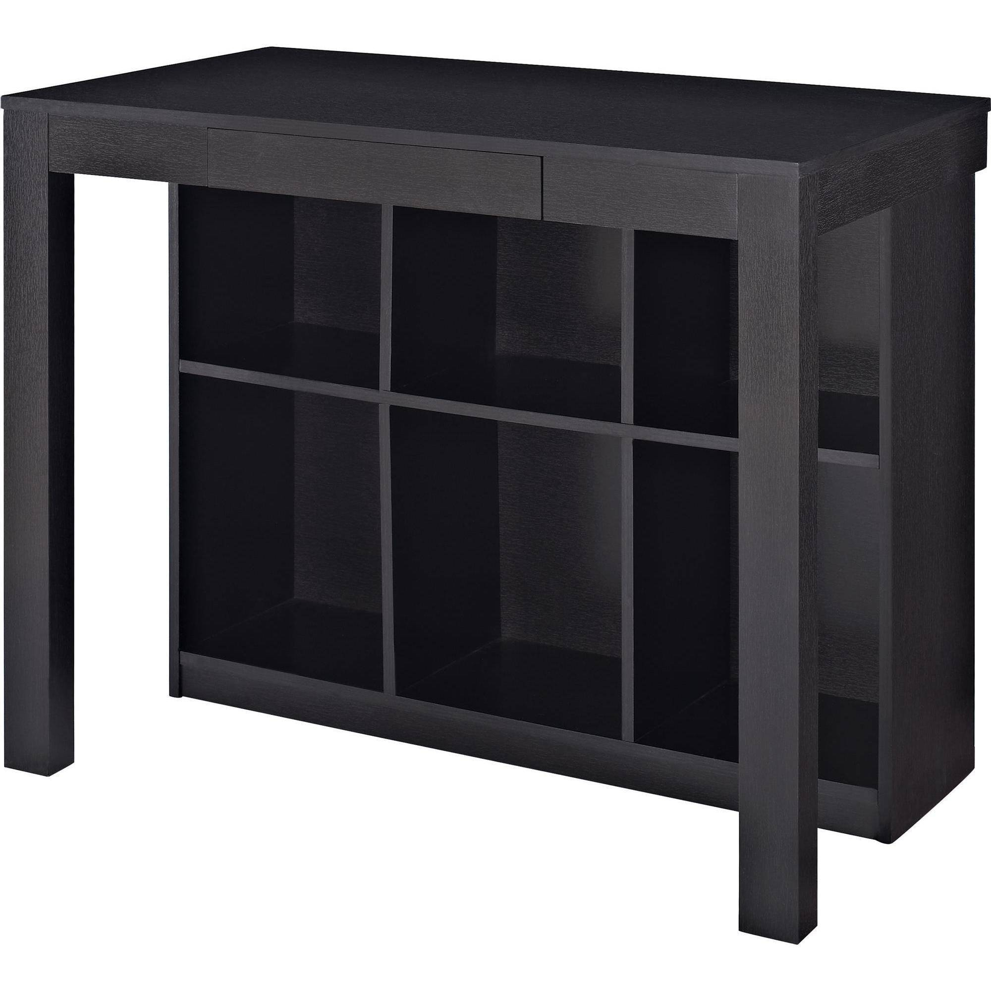 Ameriwood Home Parsons Desk With Cubbies, Black   Walmart.com