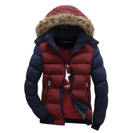 Plus Size Men Winter Zipper Hoodies Coat Jacket Splice Color Winter Outwear Long Sleeve Hoody Hooded Parka Jacket M-4XL Raglan Long Sleeve Hooded Jacket