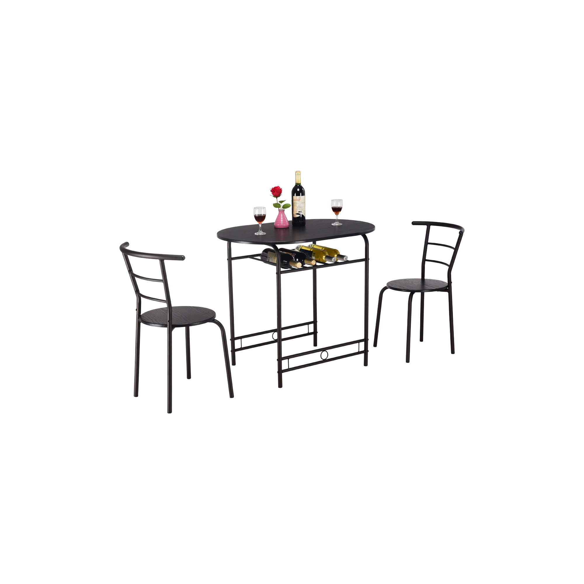 At Home Kitchen Chairs.3pcs Dining Set Table And 2 Chairs Home Kitchen Breakfast Bistro Pub Furniture