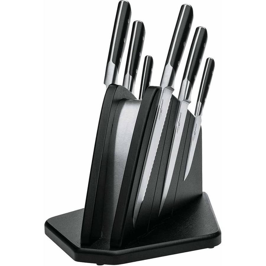Boker Forge Six Piece Knife Set with Magnetic Knife Block, Black by Boker Manufactory