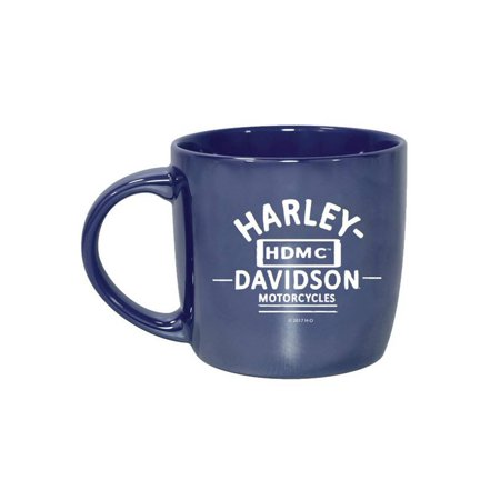 Harley-Davidson Blue City Lustre Ceramic Coffee Cup, Blue 14 oz. 3CLM4925, Harley Davidson