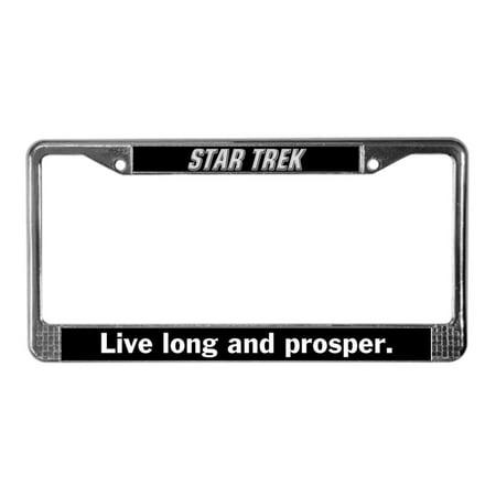 CafePress - Star Trek - Chrome License Plate Frame, License Tag Holder