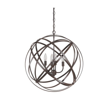 Capital Lighting Axis   Four Light Pendant  Russet Finish