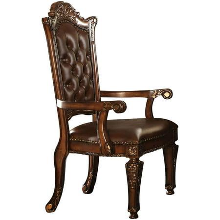 Acme Vendome Executive Arm Chair, PU and Cherry