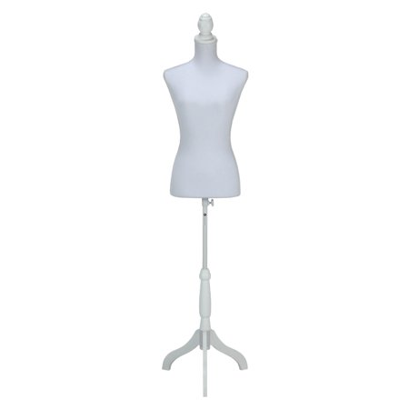 Homegear Female Lady Mannequin Torso Form With Tripod Stand For Displays Photography Black White Pattern