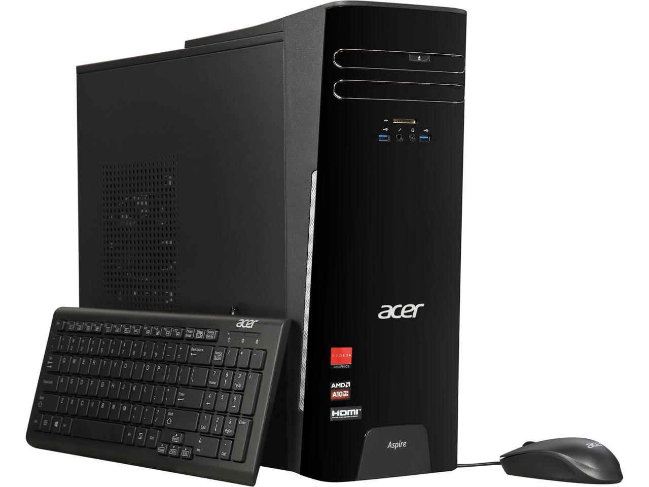 Acer Aspire TC-281-UR12 Desktop with AMD Quad Core A10-9700 / 12GB / 1TB / Win 10