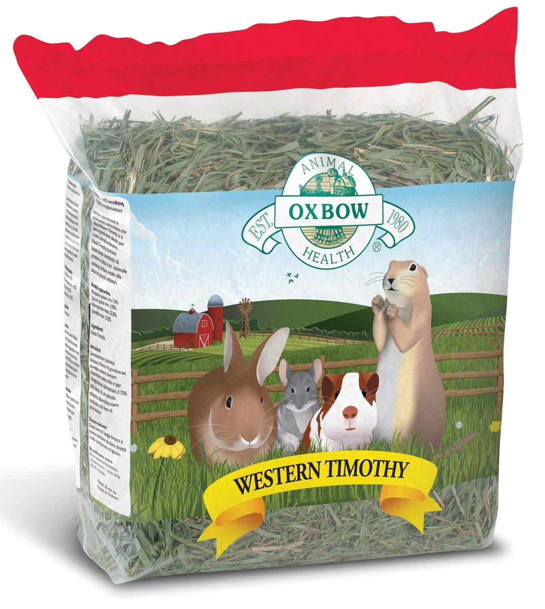 Oxbow Western Timothy Hay Dry Small Animal Food, 50 lbs.