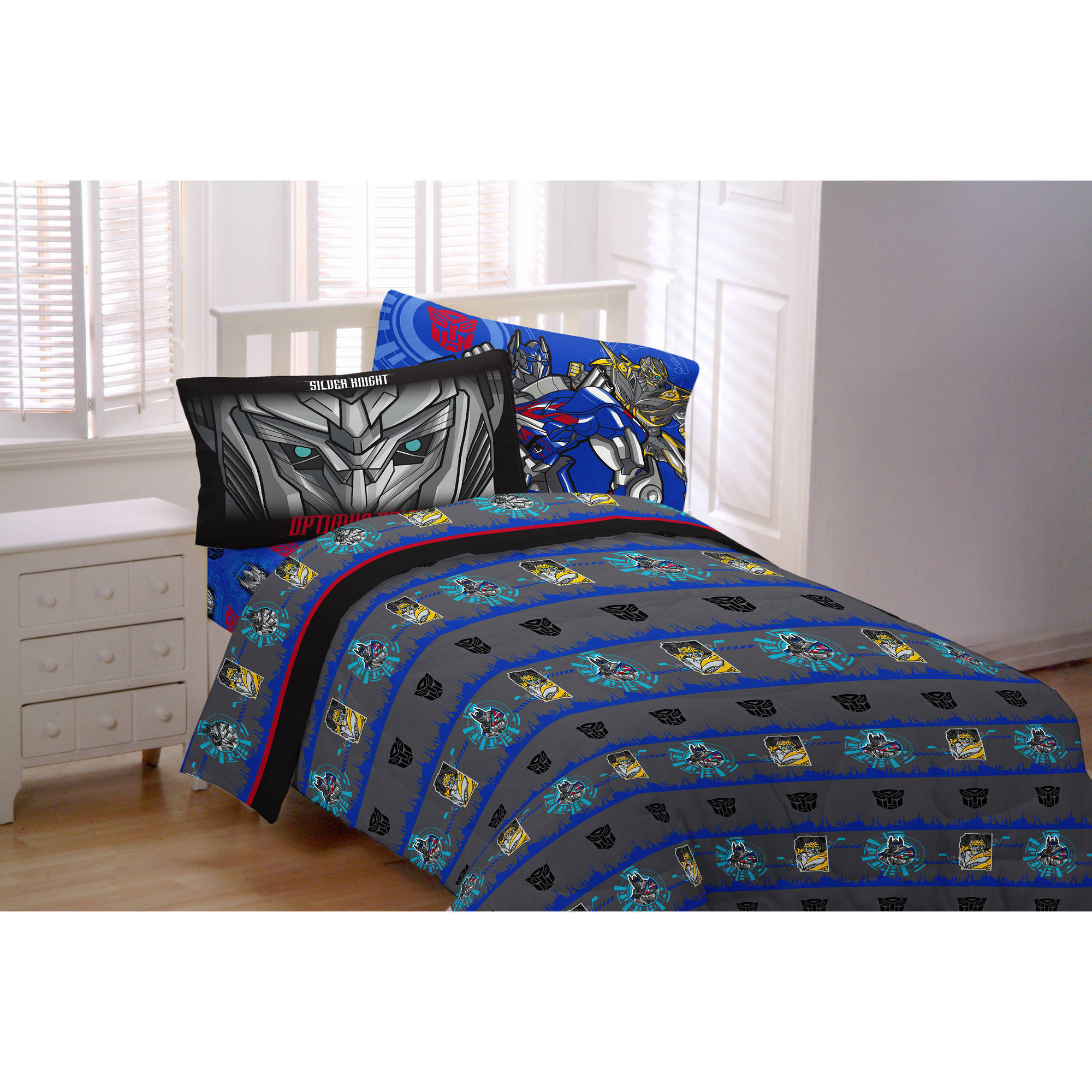 Transformers 4 Silver Knight Twin Sheet Bedding Set