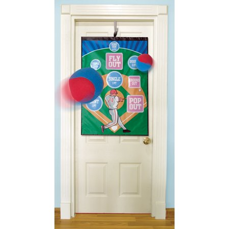 Indoor Outdoor Over the Door Baseball Target Challenge Game - Ideas For Indoor Halloween Games