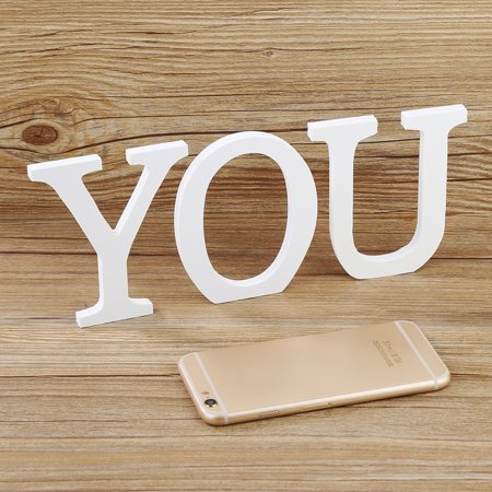 Aofa Creative Thick Wooden Letters Alphabet Wedding Birthday Home Decorations - image 7 of 7