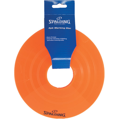 Spalding Flat Cones, Orange, 4-Pack