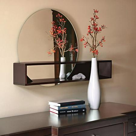 grace tate 24 wall mirror with 36 shelf espresso