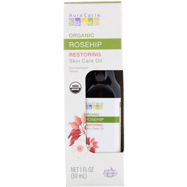Aura Cacia Organic Skin Care Oil Restoring Rosehip 1 Fl Oz