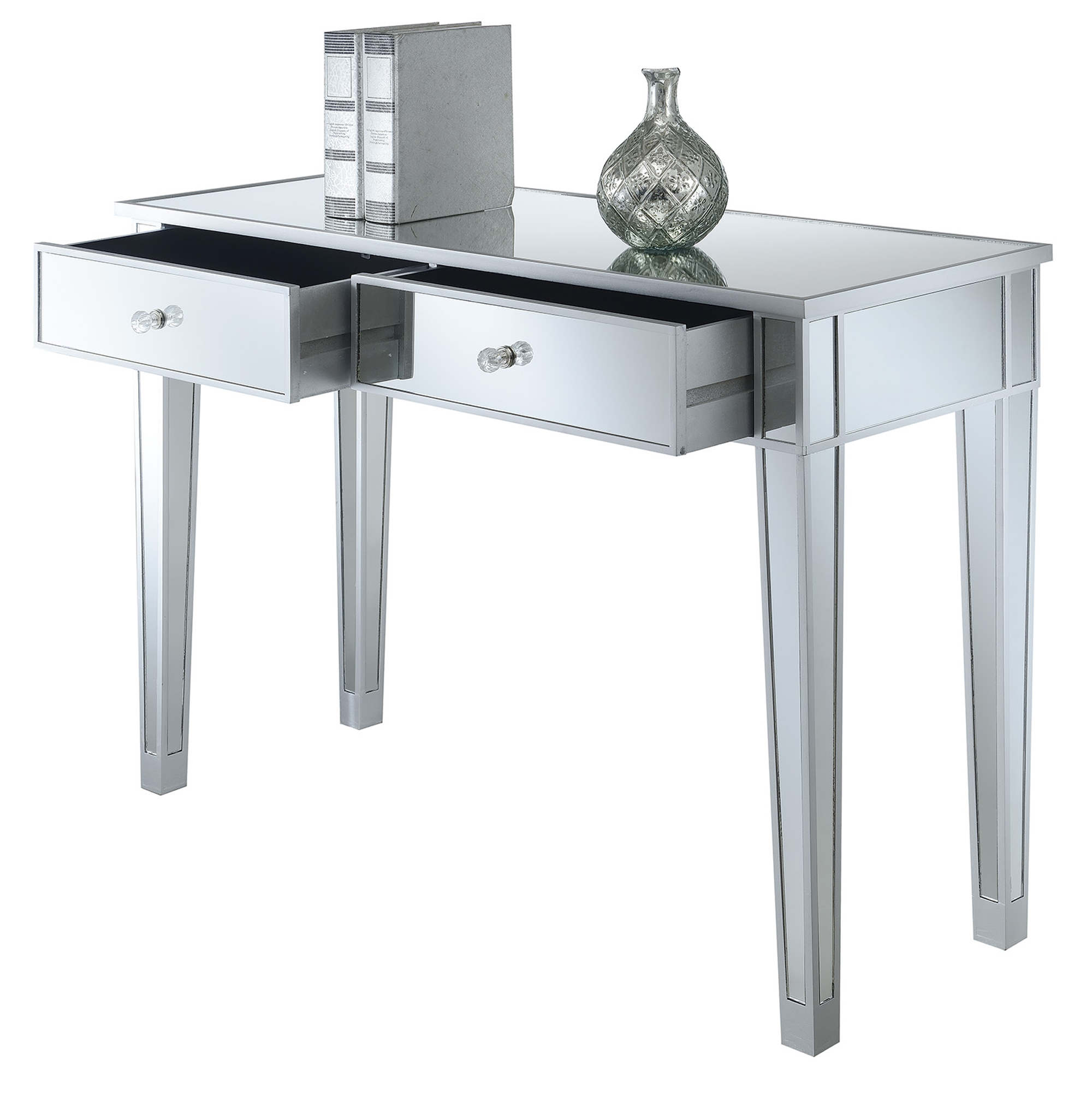 Convenience Concepts Gold Coast Mirrored Desk Vanity
