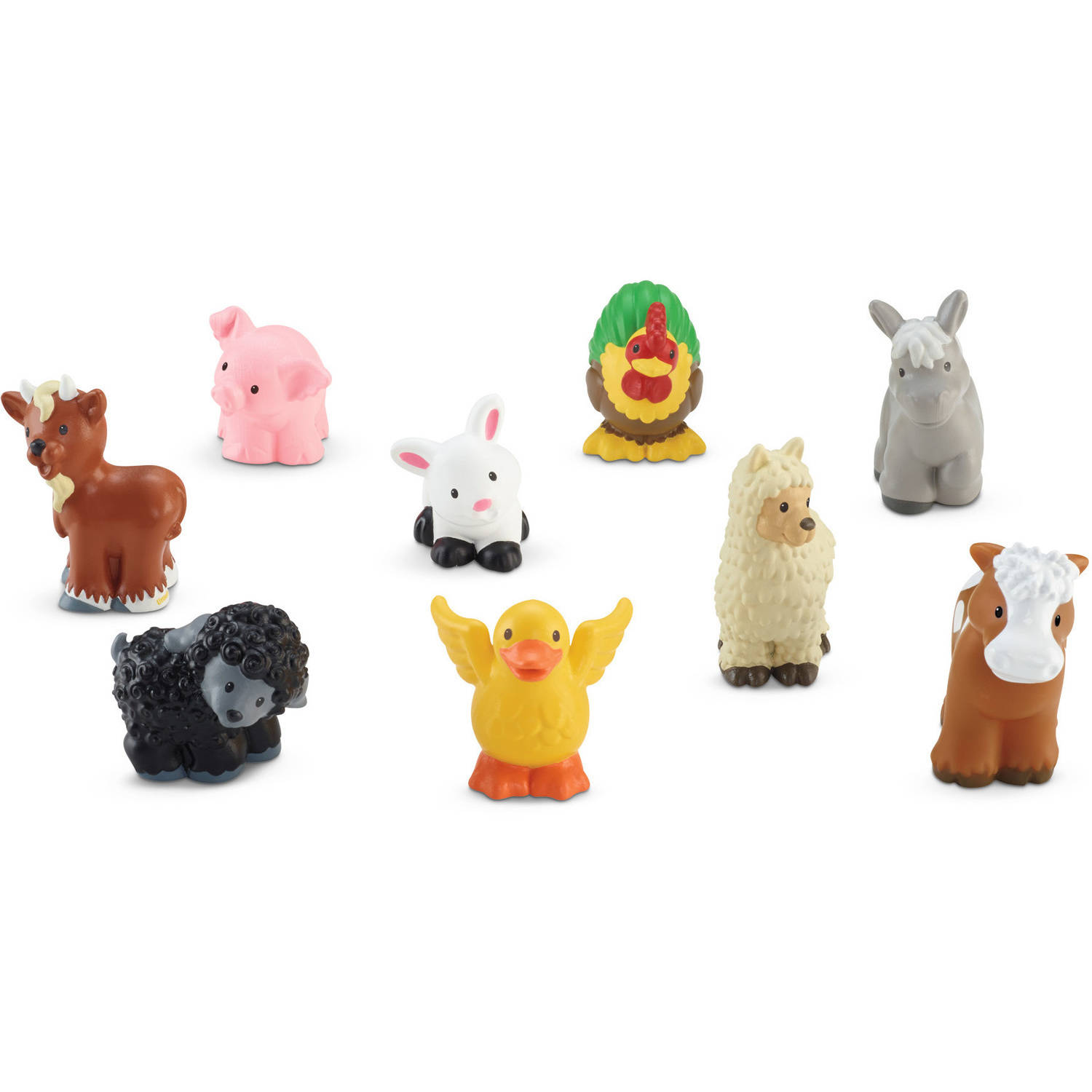 Fisher Price Little People Farm Animals Toys Assorted Plastic by Little People
