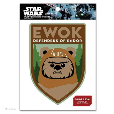 Star Wars Ewok Defenders of Endor Window - Star Wars Window Decal
